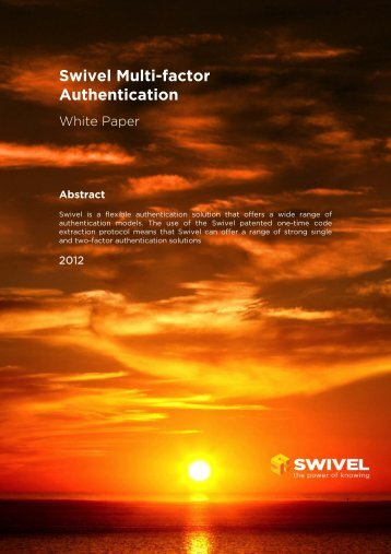 Swivel Multi-factor Authentication - Swivel Secure