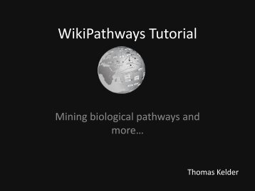 WikiPathways Tutorial