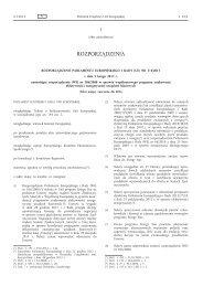 RozporzÄ…dzenie Parlamentu Europejskiego i Rady (UE ... - EUR-Lex