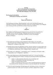 Satzung über die Benutzung der kommunalen ...