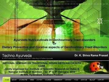 Ayurveda Nutriceuticals in Genitourinary Tract ... - Techno Ayurveda