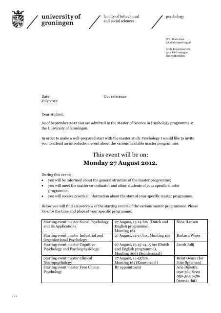 start engelse brief