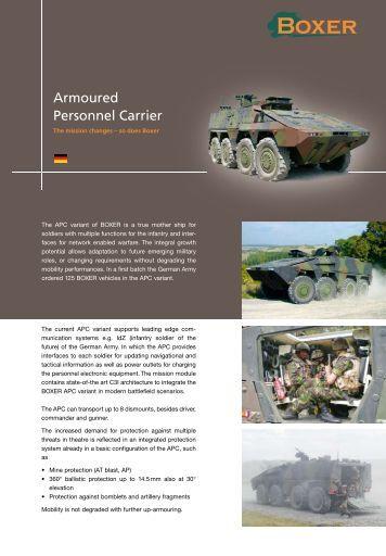 Armoured Personnel Carrier - artec-boxer.com