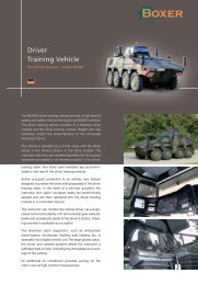 Driver Training Vehicle product data - artec-boxer.com