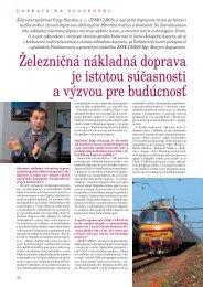 Železničná nákladná doprava je istotou súčasnosti a ... - ZSSK Cargo