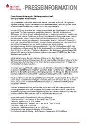 Stiftergemeinschaft Spendenübergabe 2012 - Sparkasse Rhein-Nahe