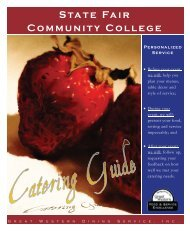 Catering by Great Western Dining! - State Fair Community College