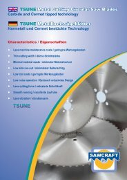 TSUNE Metal Cutting Circular Saw Blades TSUNE - Sawcraft UK