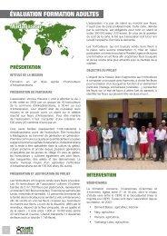 ÉVALUATION FORMATION ADULTES Madagascar - Planète Urgence