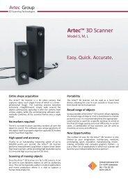 Artec 3D Scanner list face