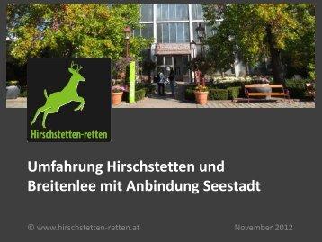 Umfahrung Hirschstetten und Breitenlee mit Anbindung ... - Aktion 21