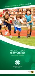 Angebote der Sportvereine - StadtSportBund Dortmund e.V.