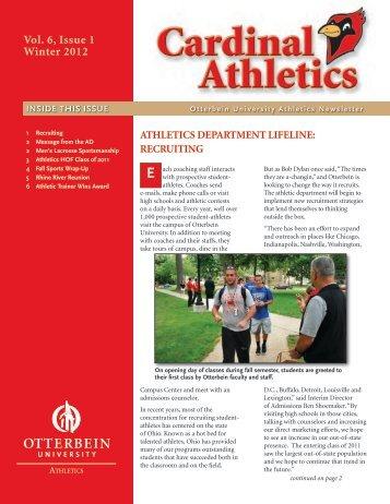 Vol. 6, Issue 1 Winter 2012 - Otterbein Athletics