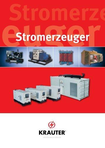 Kompetenzbrochüre Stromerzeuger - KRAUTER