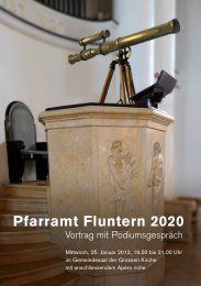 Pfarramt Fluntern 2020 - Kirche in Zürich
