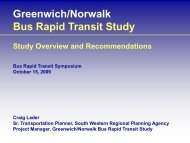 Greenwich/Norwalk Bus Rapid Transit Study