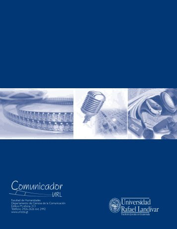 Revista Comunicador URL - Universidad Rafael Landívar