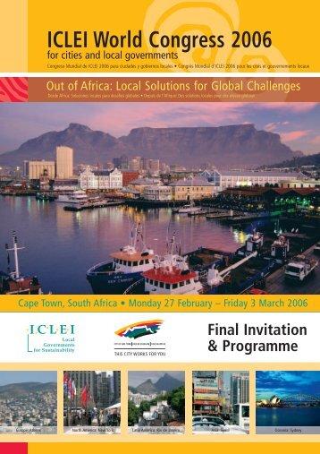 Iclei brochure latest - ICLEI World Congress 2006