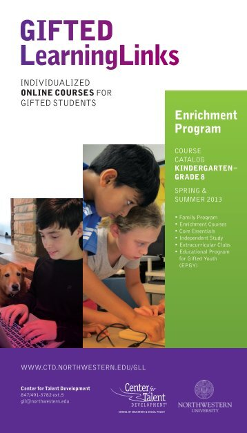 GIFTED LearningLinks - Center for Talent Development ...
