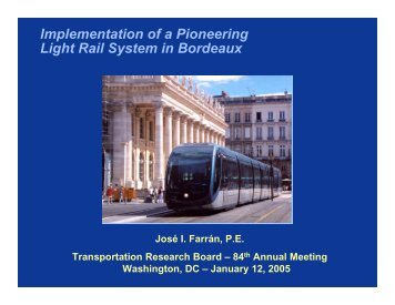 Implementation of a Pioneering Light Rail System in Bordeaux