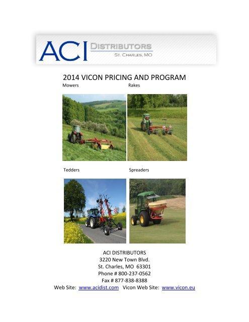 2013 VICON PRICING AND PROGRAM - ACI Distributors