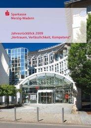 Jahresrückblick 2009 - Sparkasse Merzig-Wadern