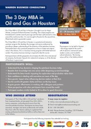 The 3 Day MBA in Oil and Gas in Houston - Warren Business ...