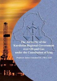 The Authority of the Kurdistan Regional Government over Oil and ...