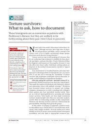 Torture survivors: What to ask, how to document - HealTorture.org