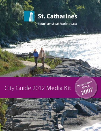 City Guide 2012 Media Kit Prices frozen - City of St.Catharines