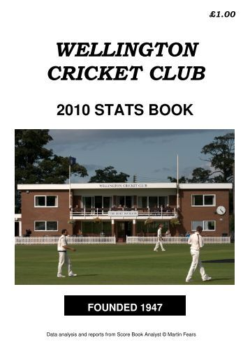 team and player age analysis - Wellington Cricket Club