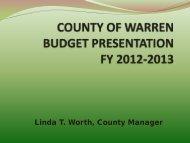 2013 Budget Presentation - Warren County