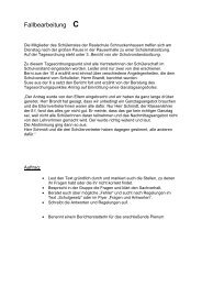 Fallbearbeitung zu Quiz - Schuelervertretung-online.de