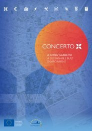 a cities' guide to a sustainable built environment - CONCERTO ...