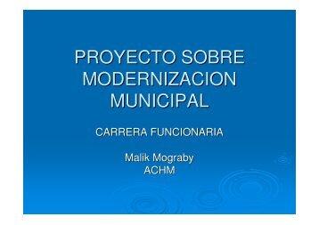 Proyecto Sobre Modernización Municipal - Asociación Chilena de ...
