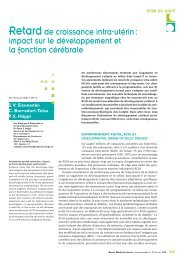 Revue Médicale Suisse 2008 - HUG - Département de l'enfant et de ...