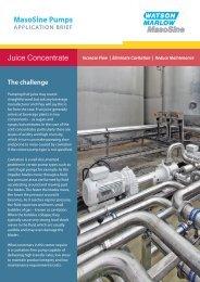 MasoSine Pumps Juice Concentrate - Watson-Marlow