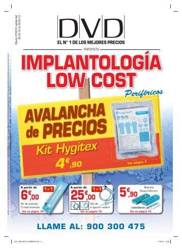 de PRECIOS IMPLANTOLOGÍA LOW COST - DVD