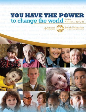 2010 Annual Report - Jewish Federation of South Palm Beach County