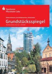 Grundstücksspiegel - Sparkasse Pforzheim Calw