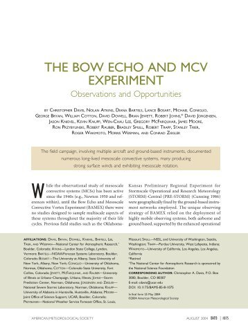 the bow echo and mcv experiment - Storm Prediction Center -  NOAA