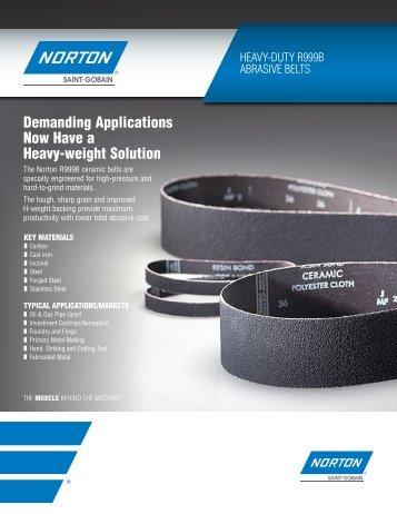 NortoN r999B AbrAsive belts