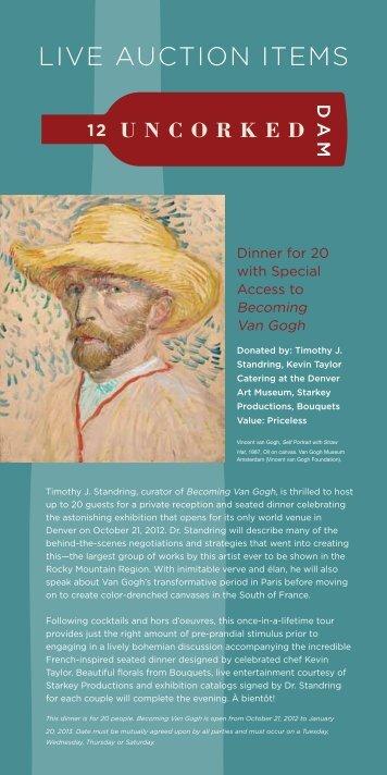 LIVE AUCTION ITEMS - Denver Art Museum