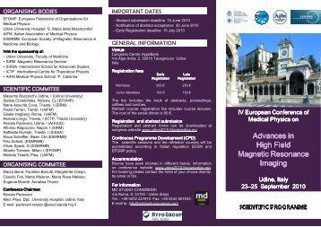 IV_ECMP_Udine2010_Scientific programme