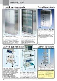 Armadi inox - Carrelli ospedalieri