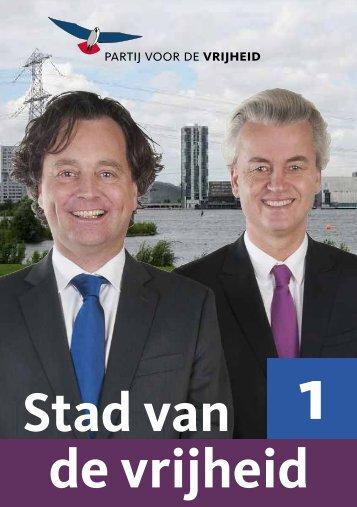 Verkiezingsprogramma PVV Almere