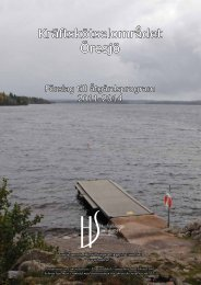 Kräftskötselområdet Öresjö - Vänersborgs kommun