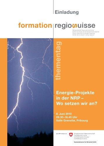 Einladung formation thementag D.pdf - Regiosuisse