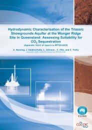 Hydrodynamic Characterisation of the Triassic ... - CO2CRC