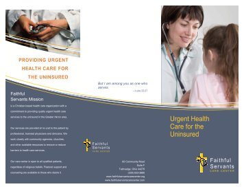 FS Care Center brochure - patients - Mature Services